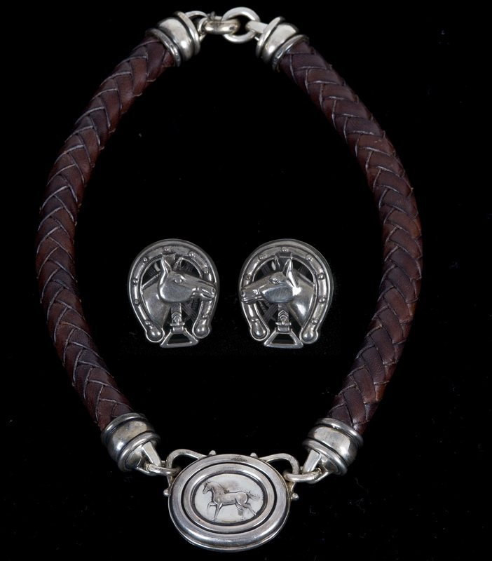 BARRY KIESELSTEIN-CORD STERLING & LEATHER NECKLACE SET