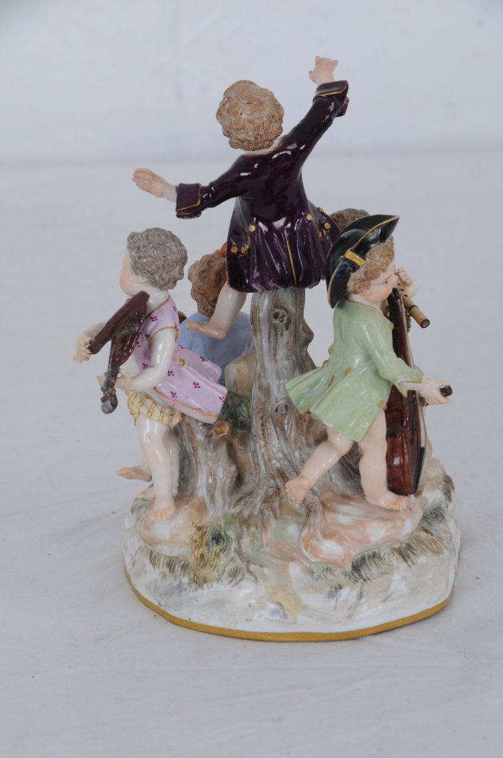 MEISSEN PORCELAIN GROUP OF YOUNG MUSICIANS - 5