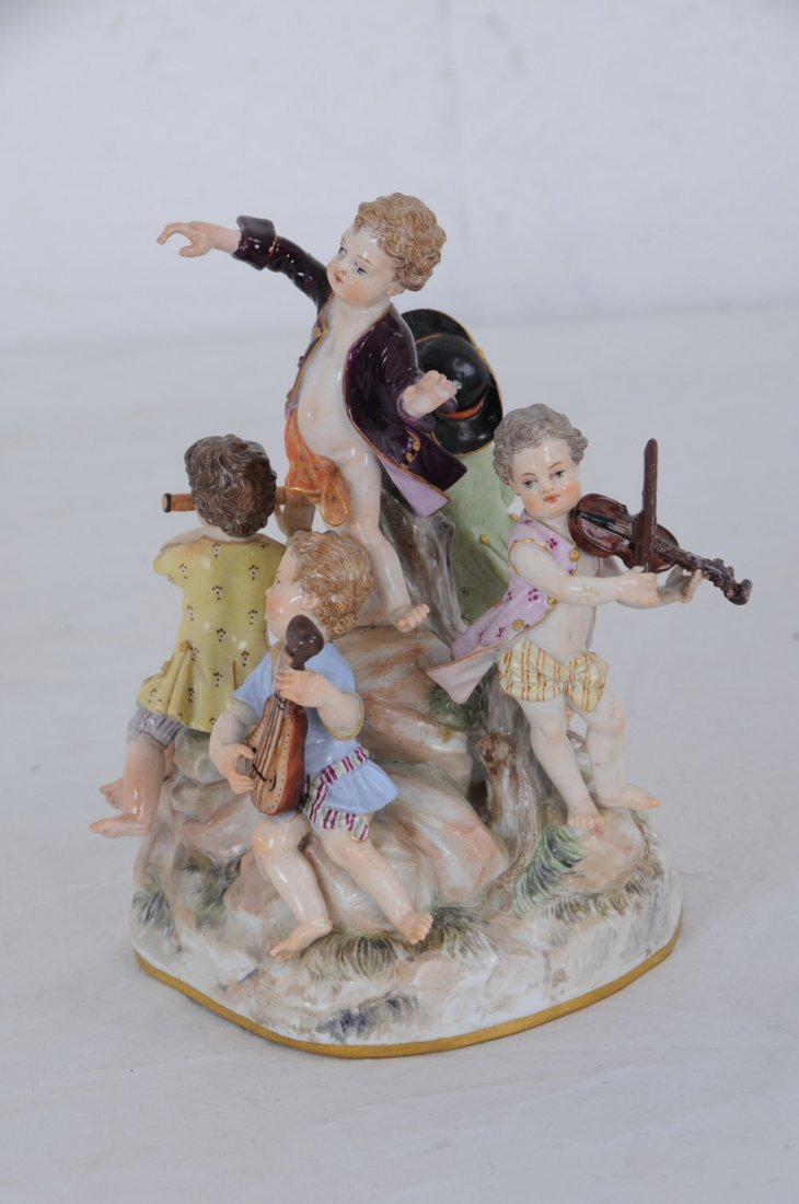 MEISSEN PORCELAIN GROUP OF YOUNG MUSICIANS - 7