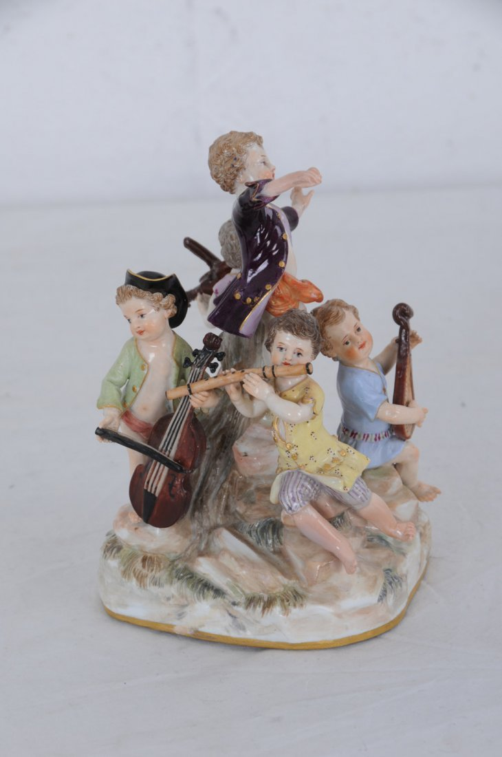 MEISSEN PORCELAIN GROUP OF YOUNG MUSICIANS - 9