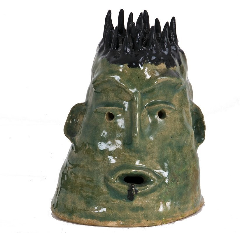 BEATRICE WOOD: POTTERY BUST OF A HEAD