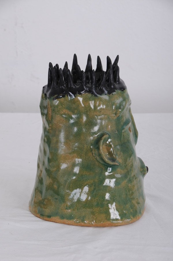 BEATRICE WOOD: POTTERY BUST OF A HEAD - 5