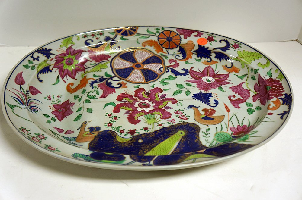 CHINESE EXPORT PORCELAIN WELL-AND-TREE PLATTER