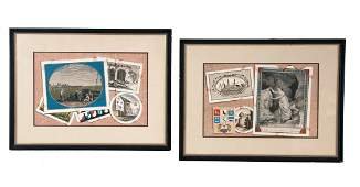 PAIR OF FRENCH TROMPE L'OEIL PICTURES