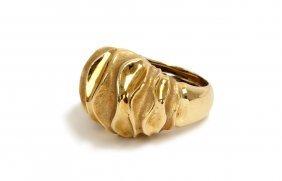 NICHOLAS VARNEY: 18 KARAT GOLD DOME RING