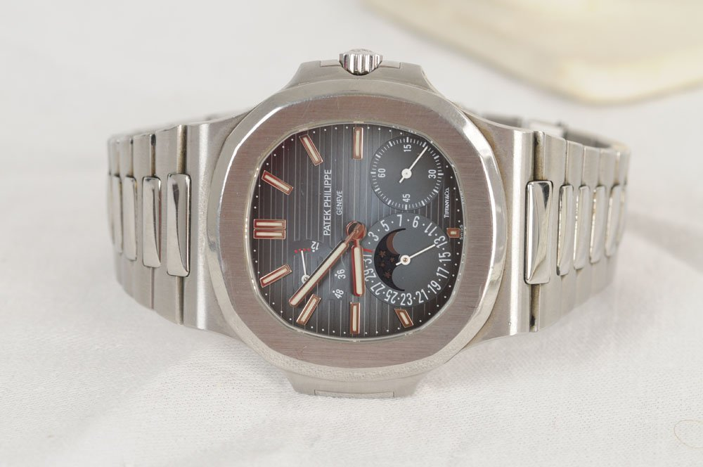 """PATEK PHILIPPE FOR TIFFANY & CO. STAINLESS """"NAUTILUS"""" - 4"""