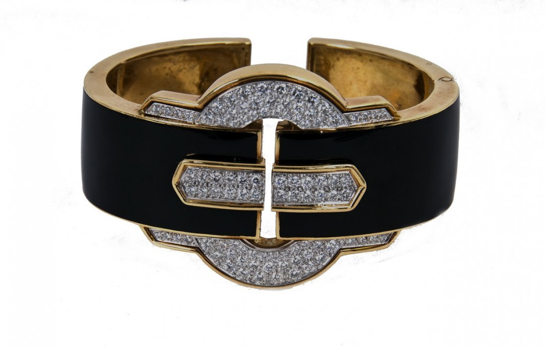 DAVID WEBB: 18 KARAT GOLD, PLATINUM, DIAMOND, & BLACK