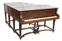 STEINWAY & SONS SHERATON STYLE MAHOGANY GRAND PIANO
