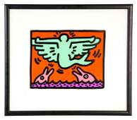KEITH HARING POP SHOP V PLATE 3