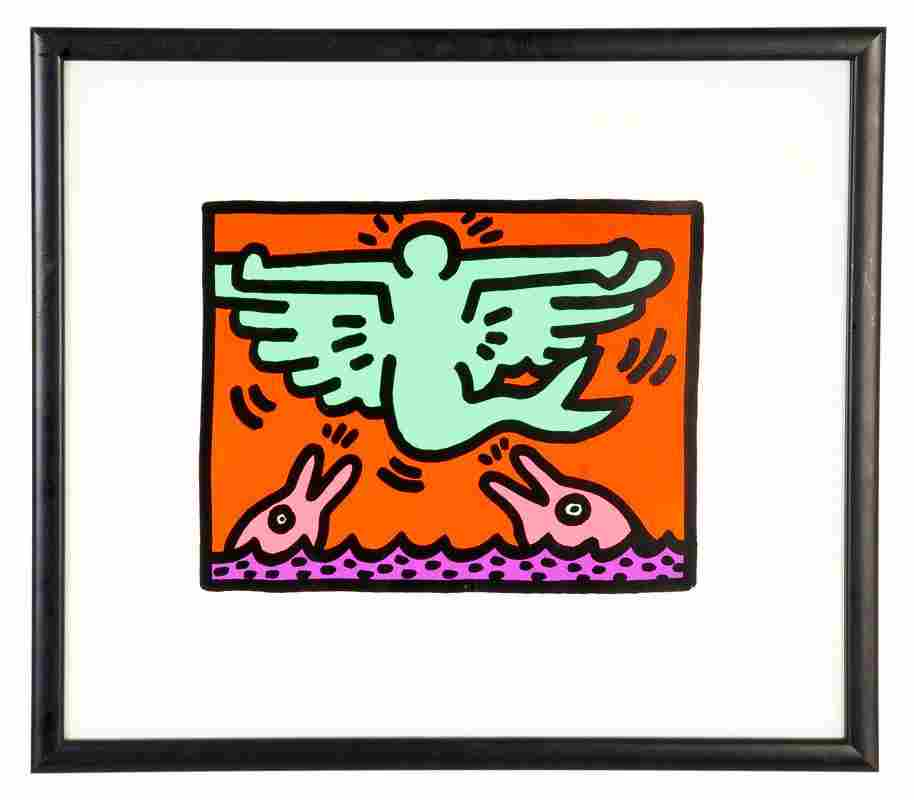 """KEITH HARING: """"POP SHOP V: PLATE 3"""""""