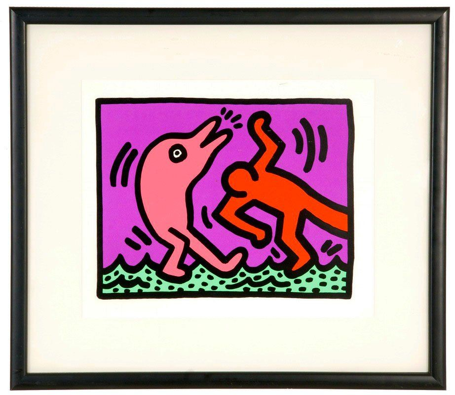 "KEITH HARING: ""POP SHOP V: PLATE 4"""