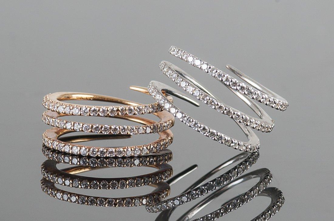 TWO 18 KARAT & DIAMOND RINGS