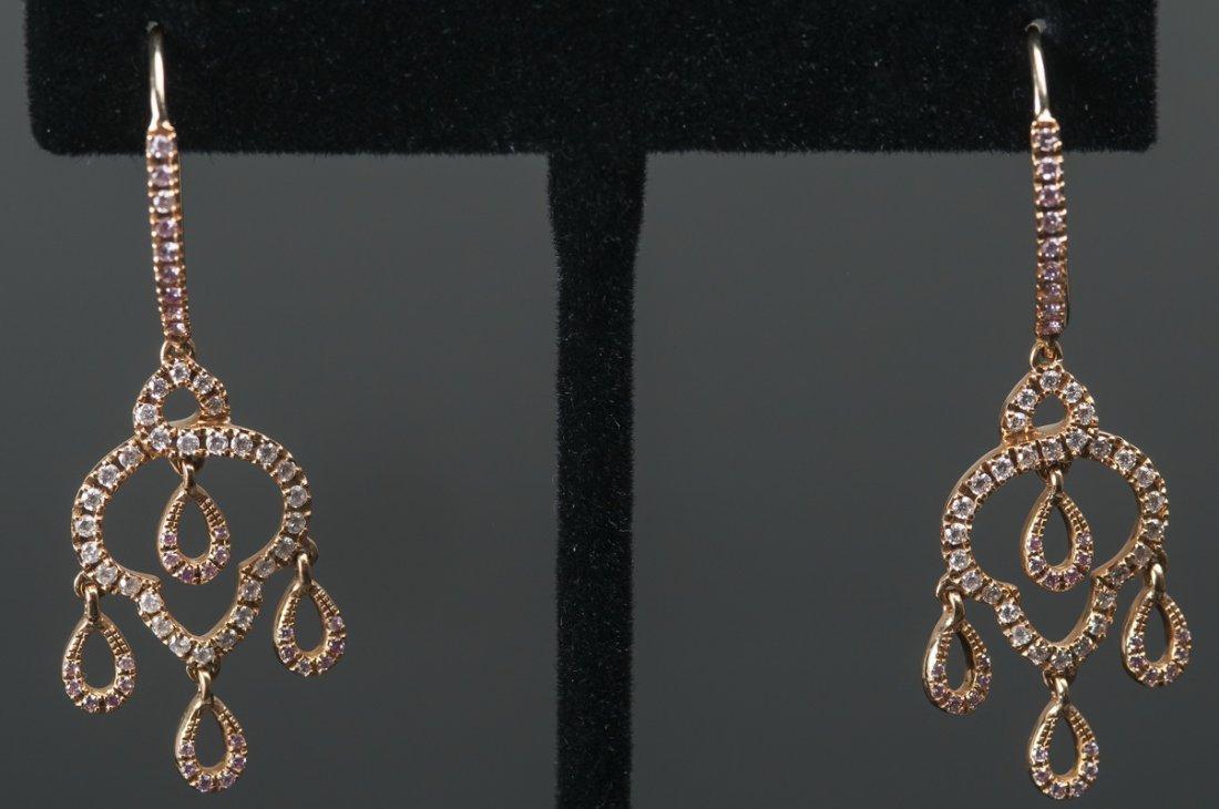 ALAN FRIEDMAN: 18 KARAT GOLD & PINK-COLORED AND WHITE