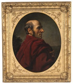 PORTRAIT OF A GENTLEMAN IN RED ROBE