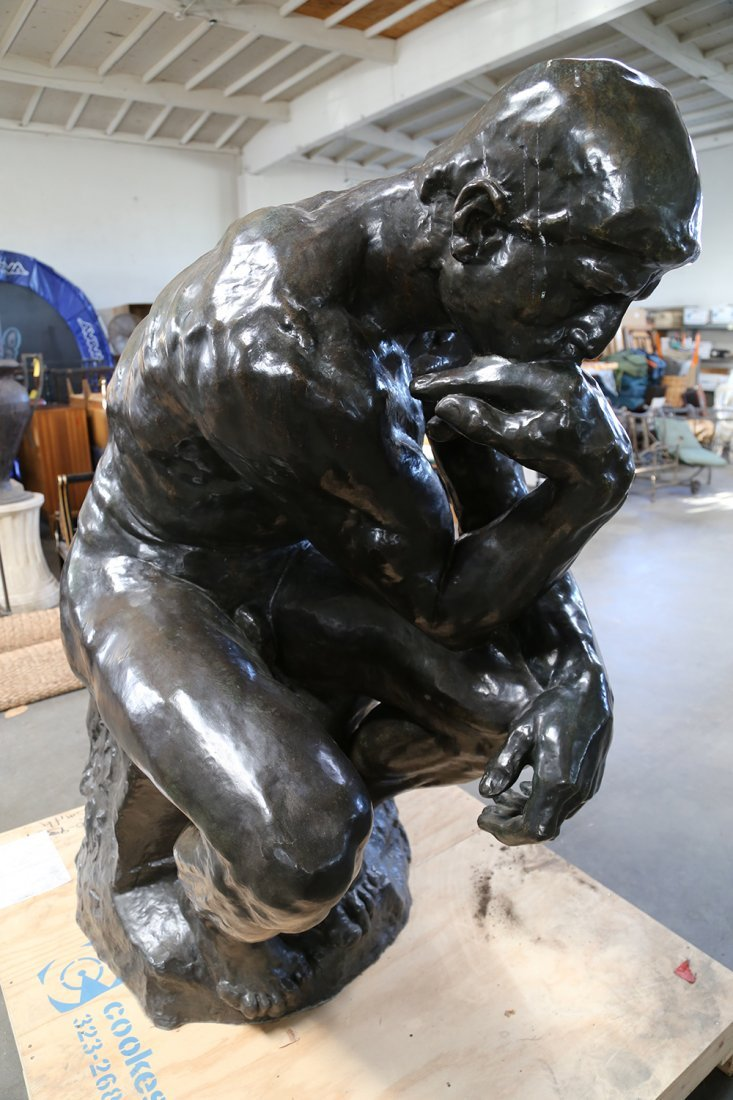 "AFTER AUGUSTE RODIN: ""LE GRAND PENSEUR [THE THINKER]"" - 3"