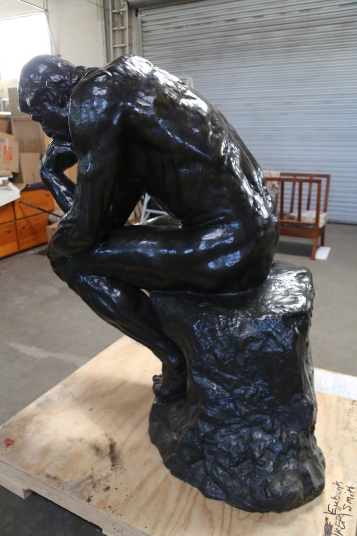 "AFTER AUGUSTE RODIN: ""LE GRAND PENSEUR [THE THINKER]"" - 4"