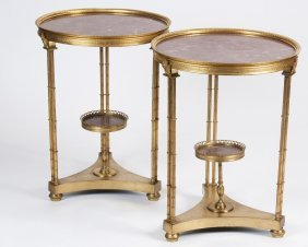 Pair Of Neoclassical Style Gilt Bronze Occasional