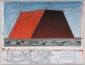 """Christo And Jeanne-claude: """"abu Dhabi Mastaba (project"""