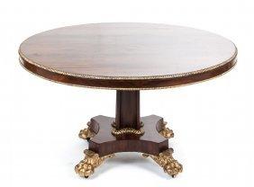 Regency Rosewood & Parcel Gilt Center Table