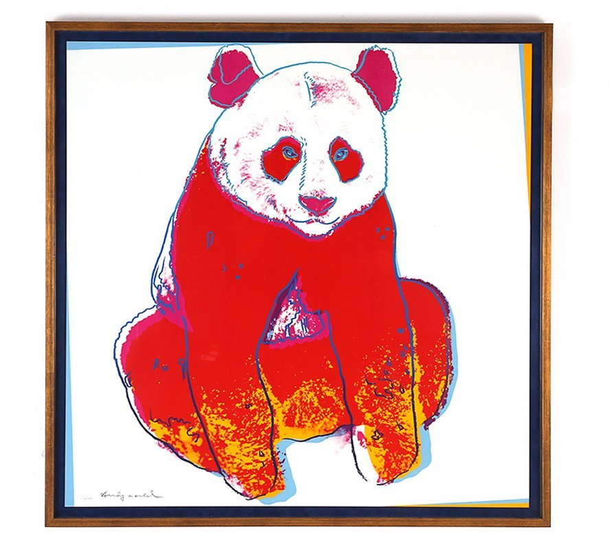 """ANDY WARHOL: """"GIANT PANDA (FROM ENDANGERED SPECIES)"""""""