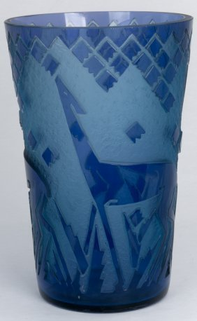 Daum Deco Acid Etched Vase