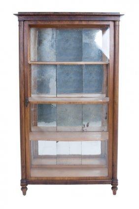 Continental Fruitwood Two Door Display Cabinet