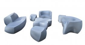 Frank Gehry For Heller: Seven-piece Outdoor Seating