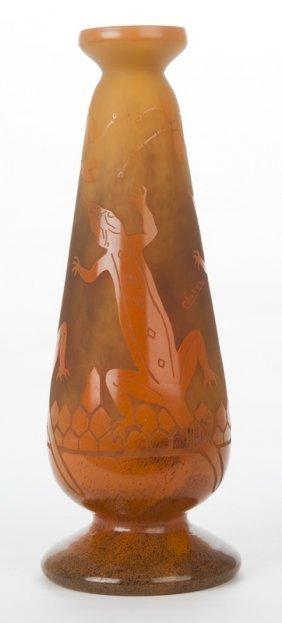 Schneider Glass Co. Art Glass Vase