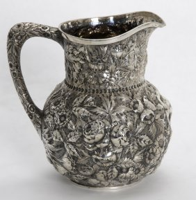 S. Kirk & Sons Sterling Repousse Pitcher