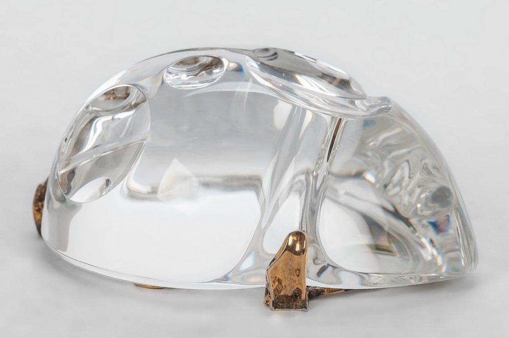 STEUBEN GLASS SCARAB: GOLD BUG