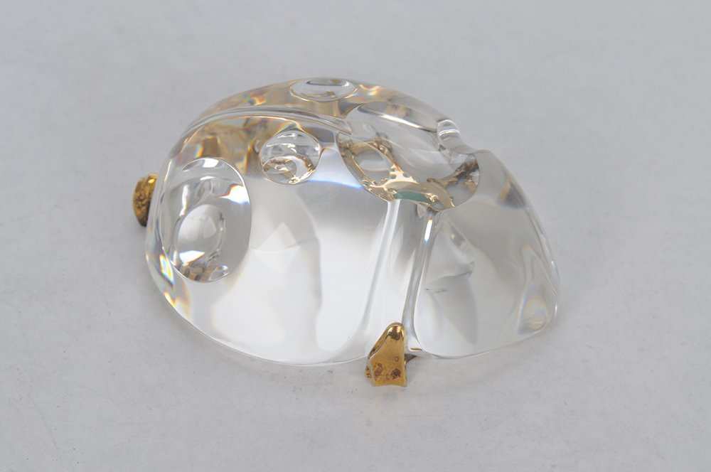 STEUBEN GLASS SCARAB: GOLD BUG - 2