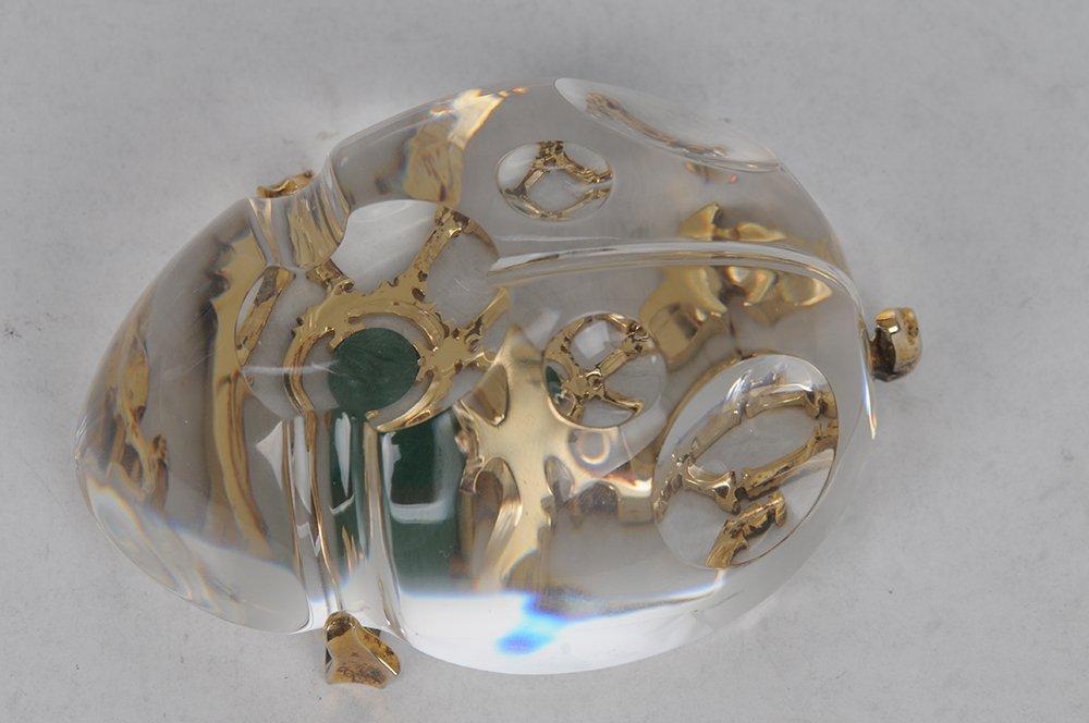 STEUBEN GLASS SCARAB: GOLD BUG - 3
