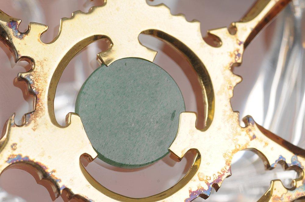 STEUBEN GLASS SCARAB: GOLD BUG - 5