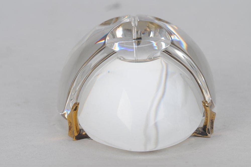 STEUBEN GLASS SCARAB: GOLD BUG - 8