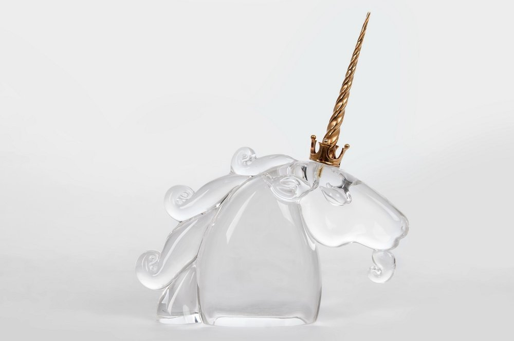 STEUBEN MOLDED GLASS UNICORN