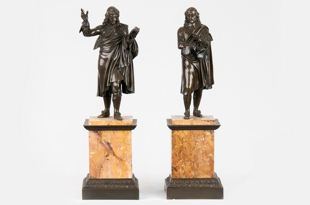 PAIR OF FRENCH BRONZE HISTORICAL FIGURES