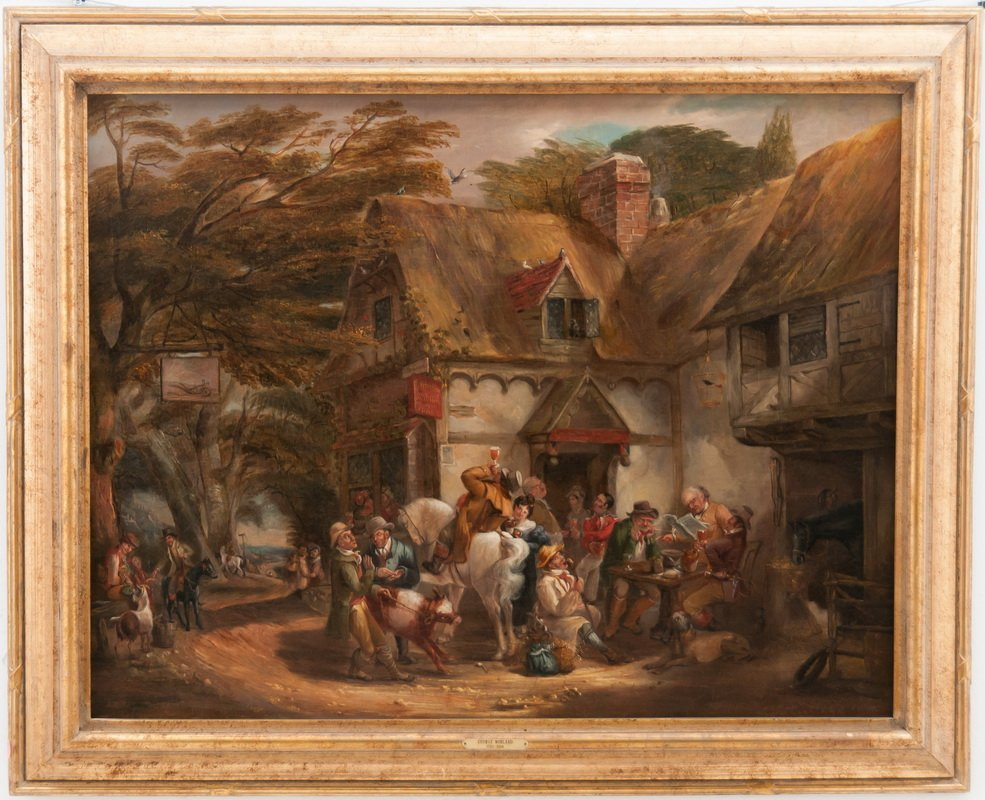 "AFTER GEORGE MORLAND: ""FIGURES OUTSIDE A TAVERN"""