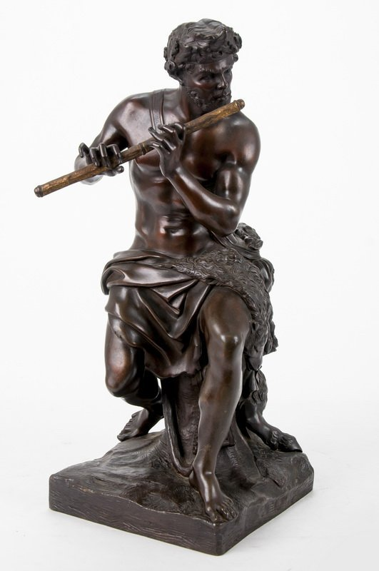 "AFTER ANTOINE COYSEVOX: ""FAUN PLAYING FLUTE"""