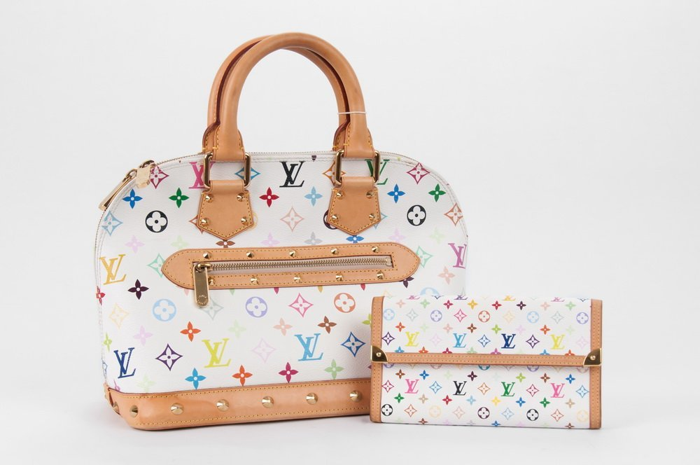 LOUIS VUITTON MULTICOLORE ALMA MM WITH MATCHING WALLET