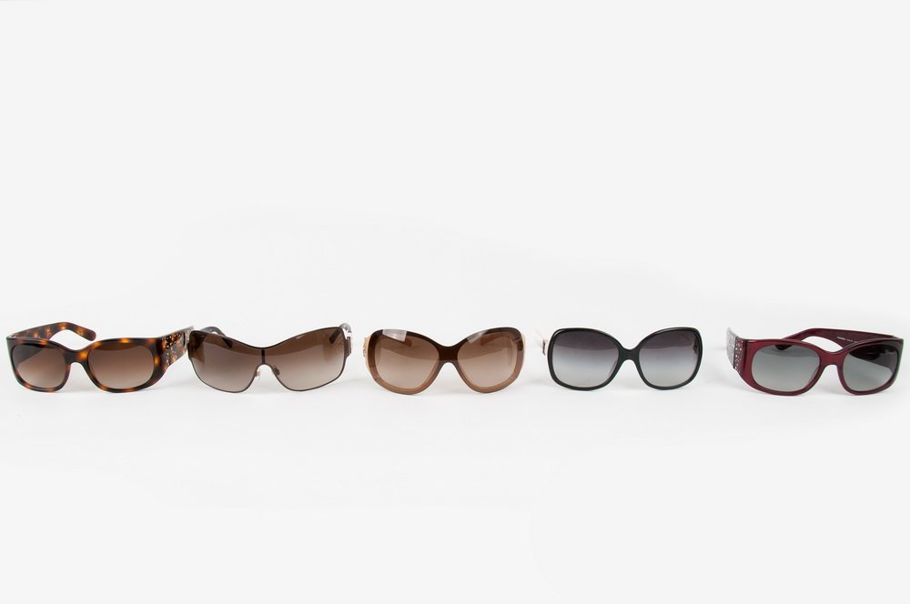FIVE PAIR CHANEL ASSORTED SUNGLASSES