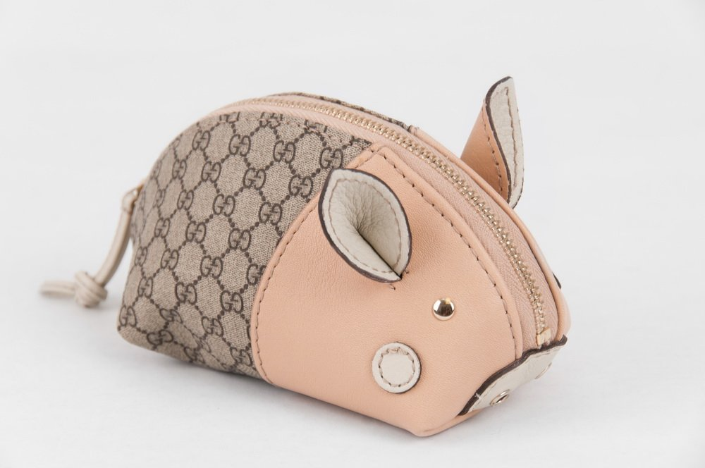 GUCCI ZOO COLLECTION PIG CHANGE PURSE