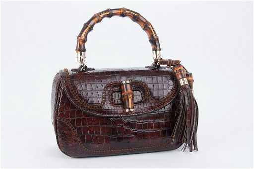 8f41791a0351 GUCCI BAMBOO CROCODILE BAG