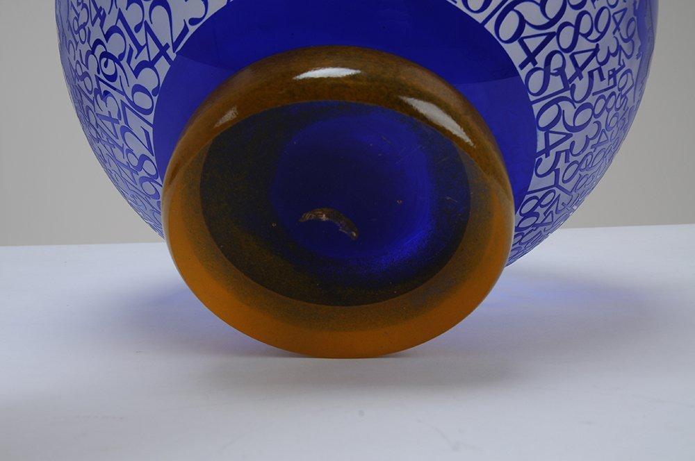 DUNCAN MCCLENNAN: ETCHED GLASS BOWL - 5