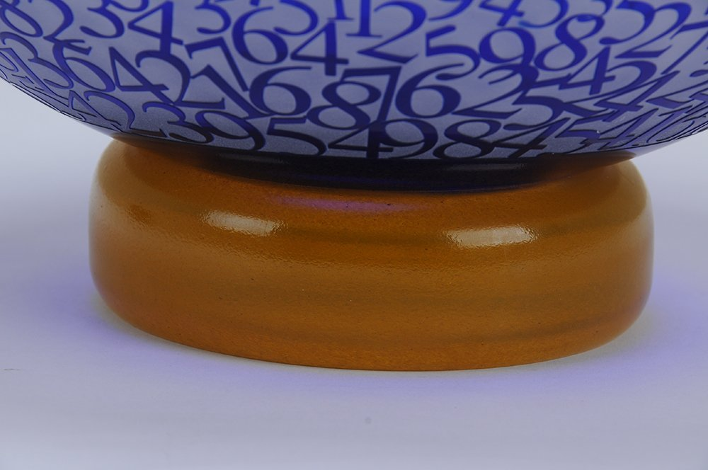 DUNCAN MCCLENNAN: ETCHED GLASS BOWL - 8