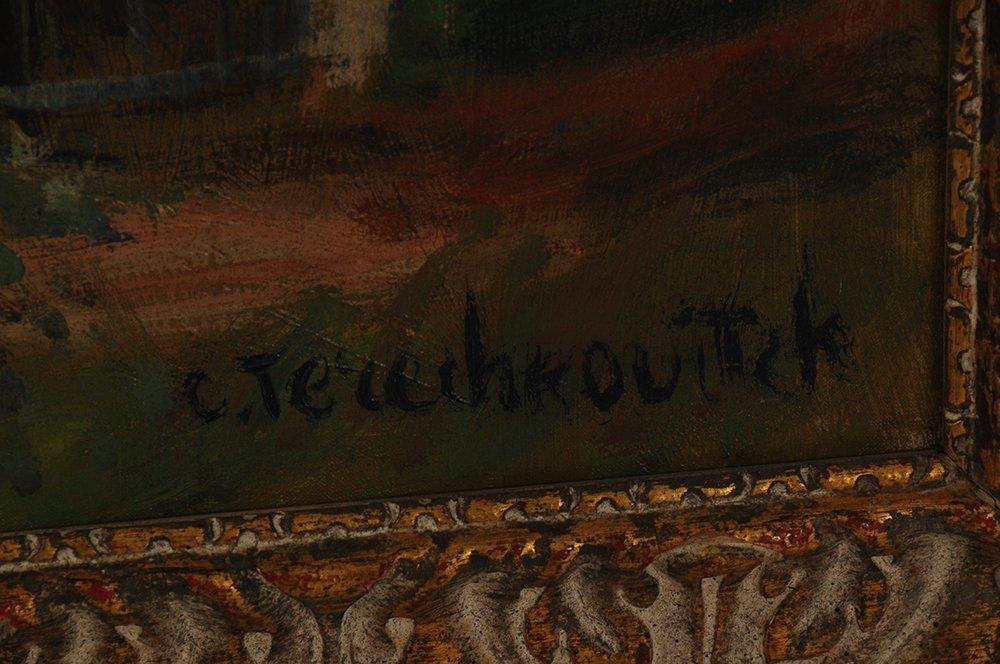 """CONSTANTIN TERECHKOVITCH: """"JARDIN DE MR.CORNIAU A - 5"""
