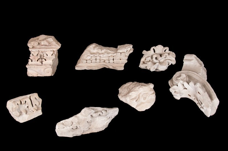 SET OF SEVEN GRECO-ROMAN MARBLE FRAGMENTS