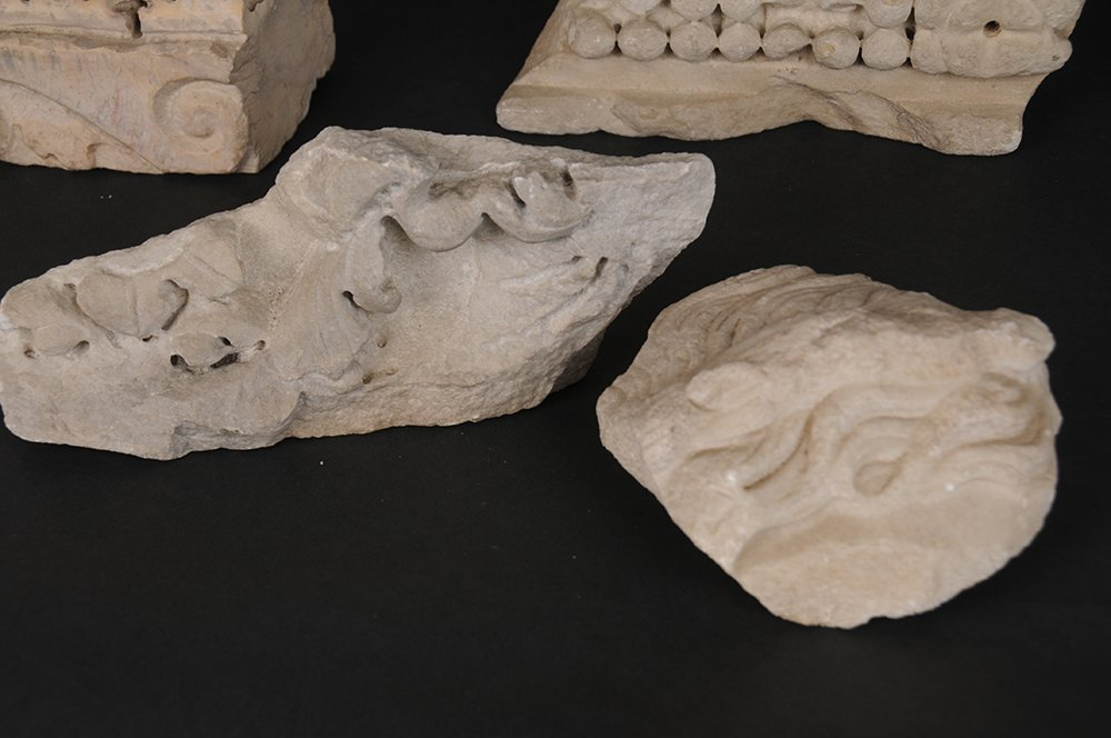 SET OF SEVEN GRECO-ROMAN MARBLE FRAGMENTS - 4