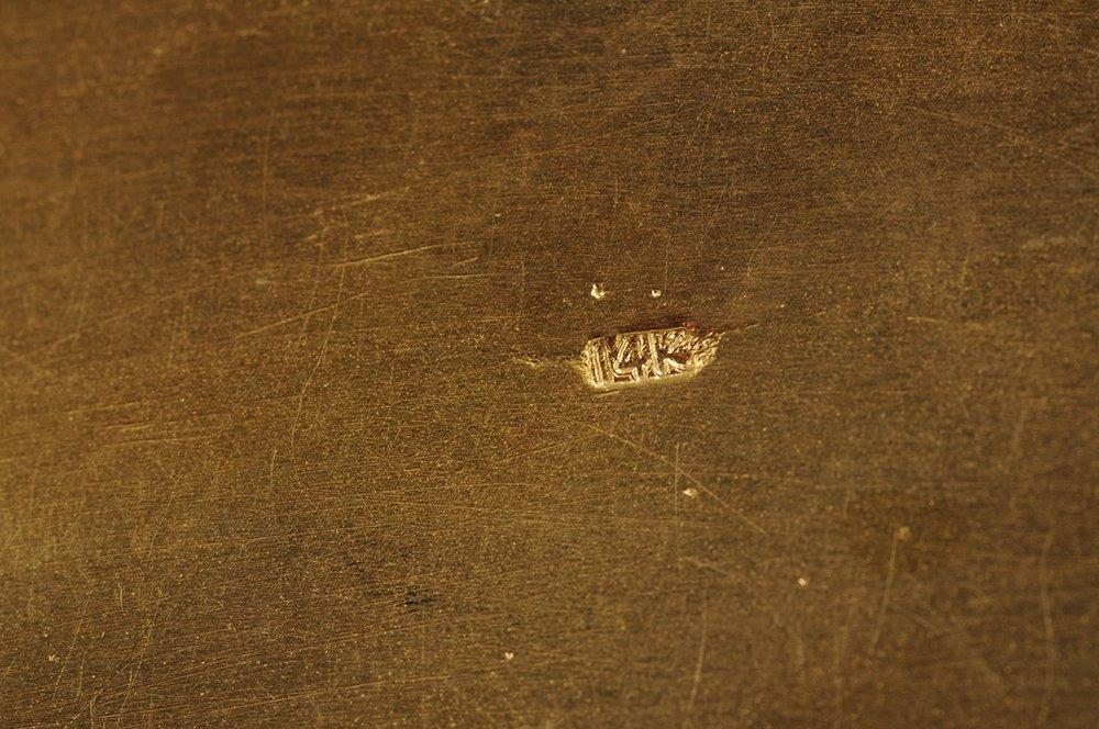 PAIR OF FOURTEEN KARAT GOLD & ENAMEL BIRD VESSELS - 3