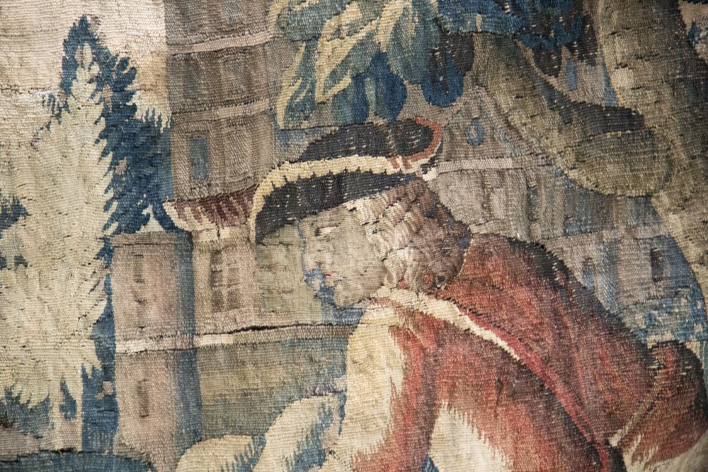 FLEMISH BAROQUE HUNTING TAPESTRY - 3