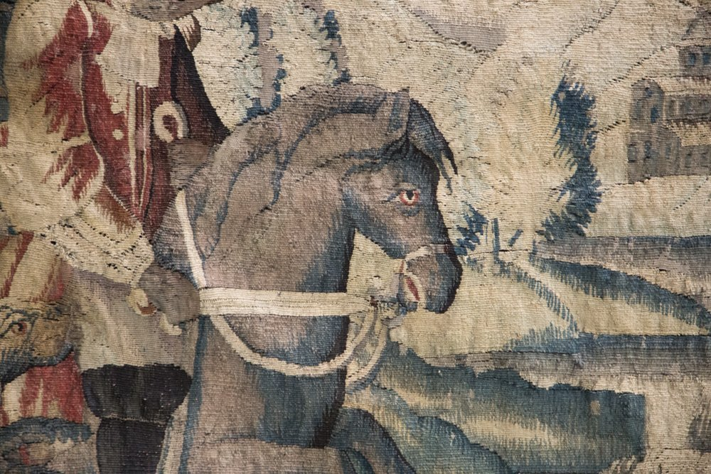 FLEMISH BAROQUE HUNTING TAPESTRY - 5